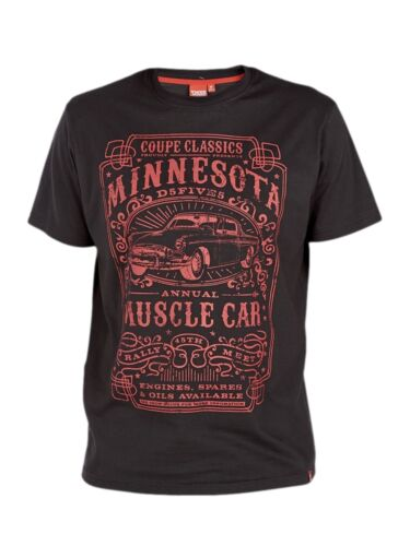 3XL 4XL 5XL 6XL Black Or Blue *NEW* Big Size Mens Minnesota Muscle Car T Shirt