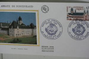 ENVELOPPE-PREMIER-JOUR-SOIE-1978-ABBAYE-DE-FONTEVRAUD