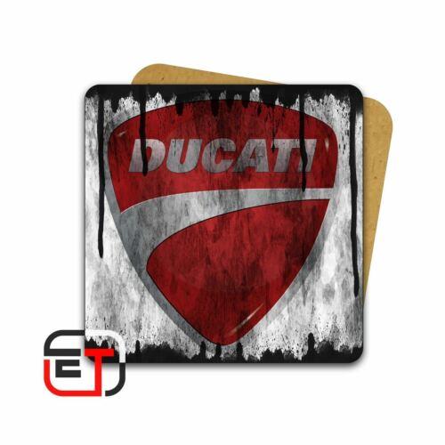 Ducati Motorbike Distressed Look Mug And Coaster Gift Set