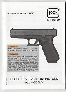 instructions for use instruction manual glock safe action pistols rh ebay com Glock Manual Safety Glock Manual Safety