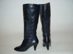 Vintage-Black-Leather-High-Dress-Heel-Knee-Boots-9-Uruguay