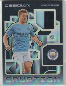 2020-21 Panini Obsidian Kevin De Bruyne Eruption Yellow Parallel Patch 01/10