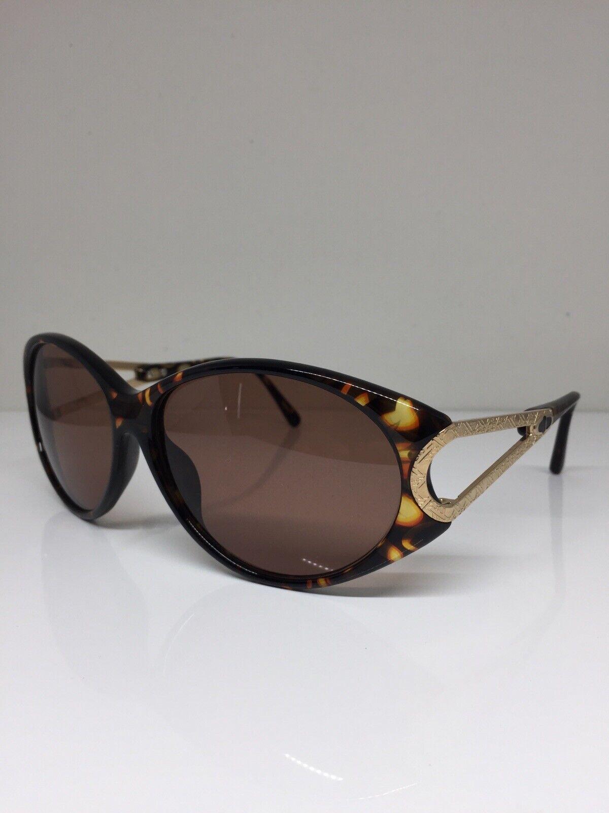 New Vintage Christian Dior CD 2763 Sunglasses C. 10 Tortoise & Gold Austria 60mm