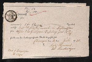 histor-Quittung-1830-Ellwangen-H133