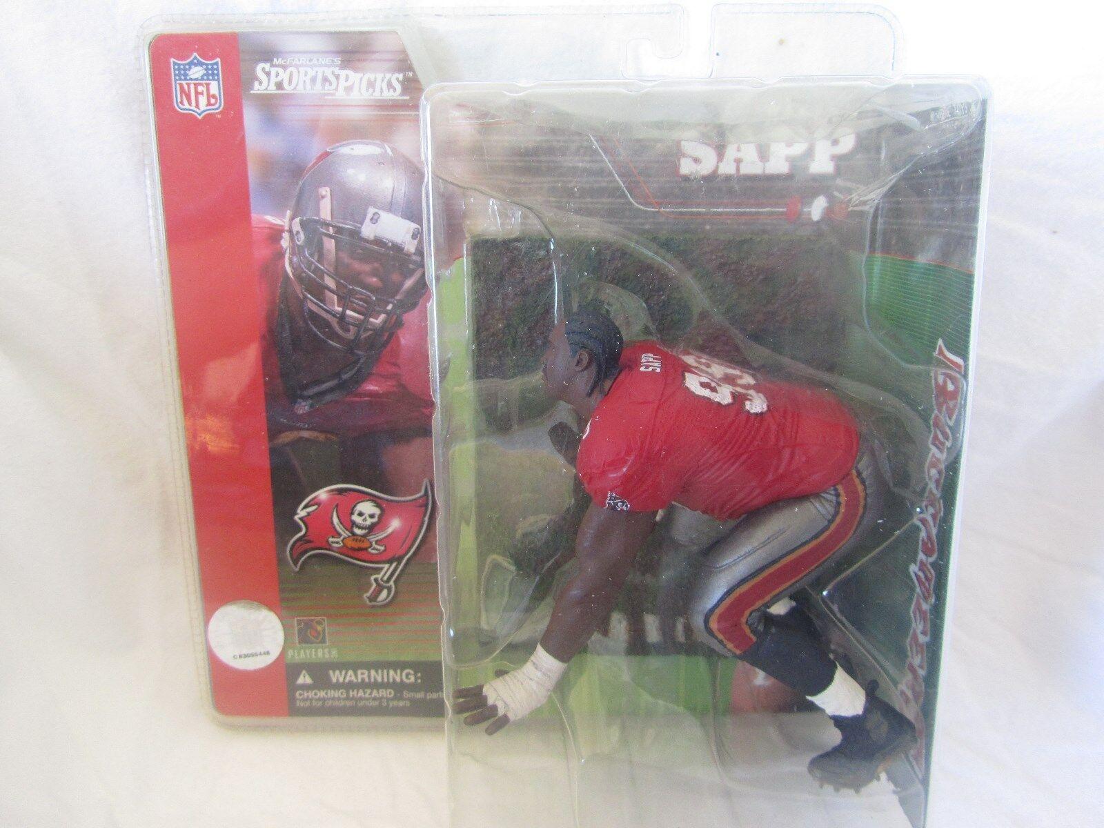 1 SERIE McFarlane NFL Warren Sapp SUPER CHASE VARIENTNessun Casco RARA
