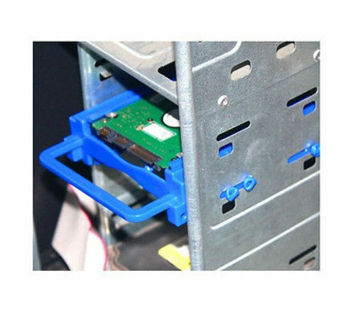 """2.5/"""" Dual HDD//SSD Screwless Mounting Bracket For 3.5/"""" Hard Drive Bay Blue"""