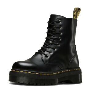 Women-Leather-Heeled-boots-shoes-Smooth-US-Size-Doc-Eye-New-2020-7-8
