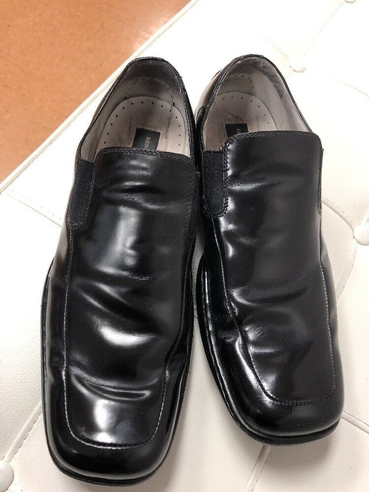 Men's Kenneth Cole Oxford Dress shoes Landing Gear Silver Technology Black 10.5