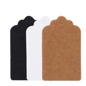 100Pcs-Hang-Tags-Brown-White-Black-Kraft-Paper-Gift-Weeding-Party-Price-Cards