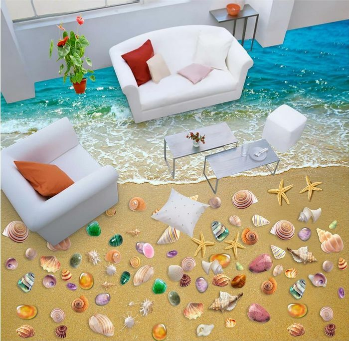 3D beach sand stone 100 Floor WallPaper Murals Wall Print Decal 5D AJ WALLPAPER