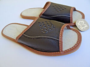 Schockoladen cuir pantoufles Gr43 marron pantoufles pantoufles pantoufles en 0nPN8kXZwO
