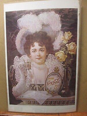 Vintage Coca-Cola Coke coca cola victorian Poster 1970's