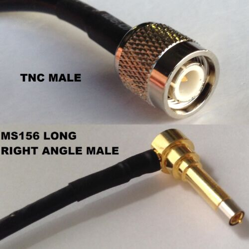 RG316 TNC MALE to MS156 Male Angle Long Coaxial RF Cable USA-US