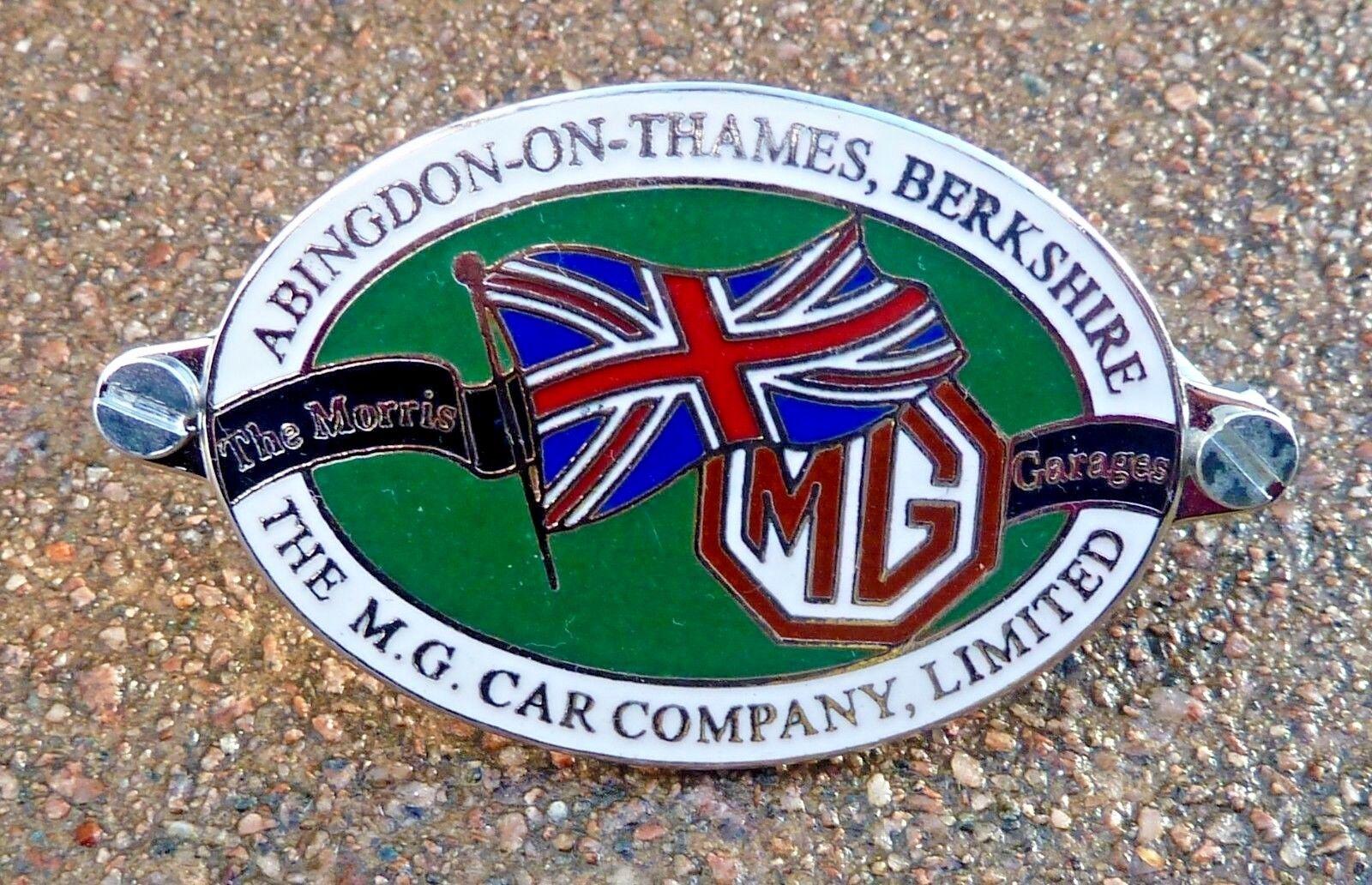 CHASSIS PLATE BRASS MG MGA MIDGET MGB MGC MAGNETTE VA ZA ZB badge emblem motif