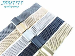 22-mm-Montre-Bracelet-en-Acier-Inoxydable-Multicolore-Brosse-0-8-mm-Wire-Mesh-Classic