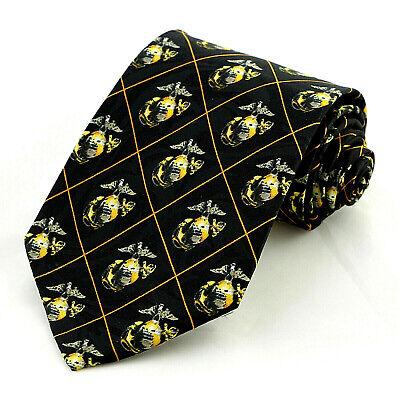 U.S.M.C. eagle quality Men/'s necktie #6 New!! Marine Corps Globe U.S Anchor