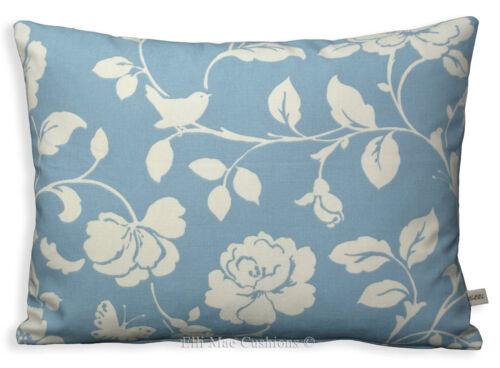 Clarke /& Clarke Designer Meadow Bleu Poudre Canapé Coussin Oreiller Housse