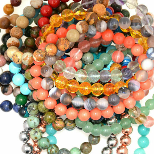 4 mm naturel 6 mm 8 mm 10 mm Multi-Color FLUORITE pierres précieuses perles Stretch Bracelet