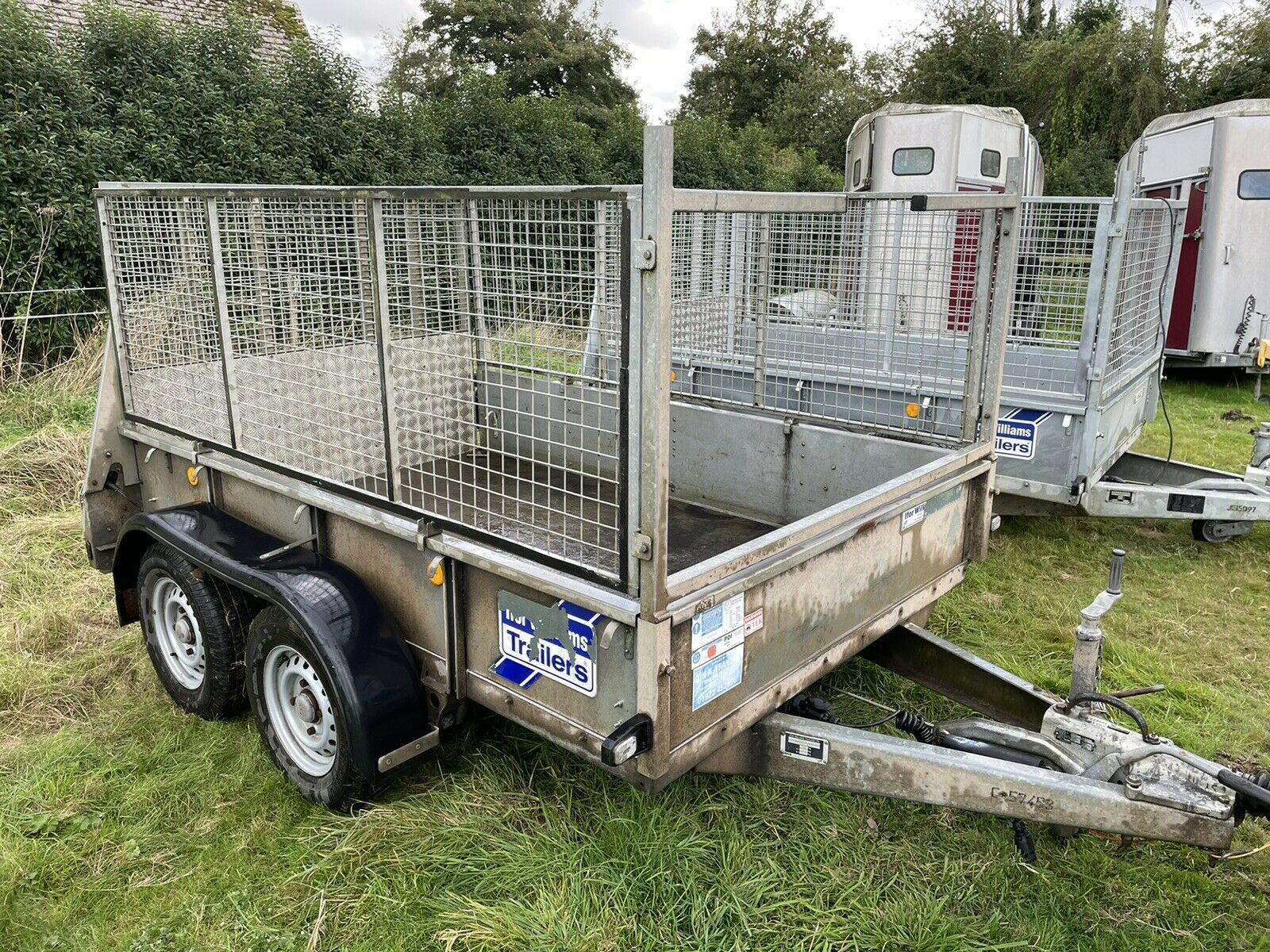 2012 IFOR Williams GD85MK3 8ft X 5ft Mesh Sided General Duty Trailer