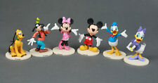 6 set Mickey Minnie Mouse cake toppers Clubhouse Donald Daisy Duck goofy Figures