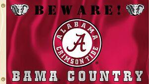 Alabama-Crimson-Tide-3-039-x-5-039-Flag-Beware-Bama-Country-NCAA-Licensed