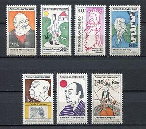 32923-CZECHOSLOVAKIA-1968-MNH-Caricatures-UNESCO-7v
