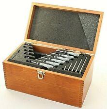 Starrett 0 150mm 6pc Micrometer Set Wood Case 002mm Grad Carbide Face Machinist