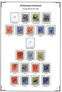 Nederland-puntstempels-op-Willem-III-1872-tussen-151-t-m-170-opruiming-sale