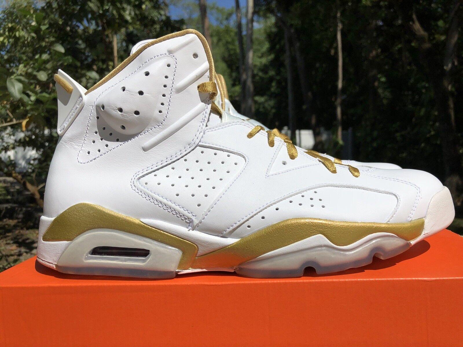 Nike Air Jordan 6 VI Retro Black gold GMP golden Moments Size 12. 535357-935