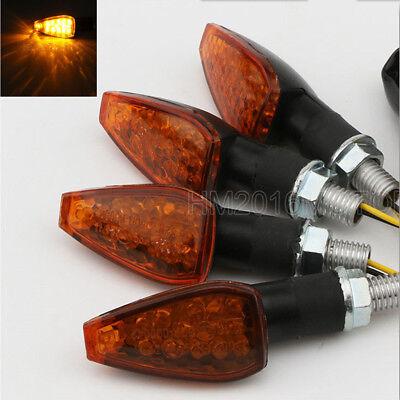 4x LED Turn Signals Blinker For Kawasaki Z1000 Z750 Z750R Versys 650 1000