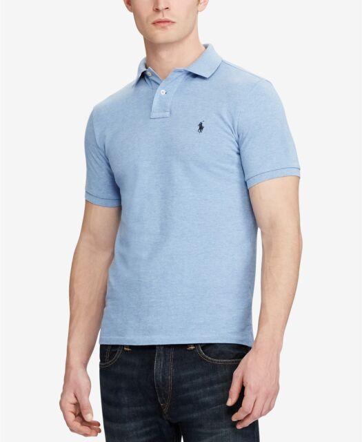 dd4573397 Polo Ralph Lauren Men s Custom Slim-Fit Cotton Mesh Polo Shirt-Jamaica  Heather-