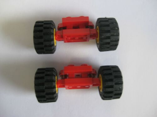 Lego SPRING WHEELS HOLDER lot of 2 with Wheels Part 2484c01 Suspension Axles