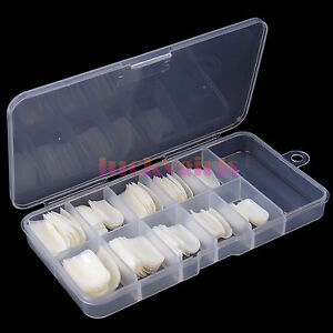 100Pcs-Natural-white-French-Acrylic-False-Fake-Nail-Art-Fingernail-Full-Tips-Box