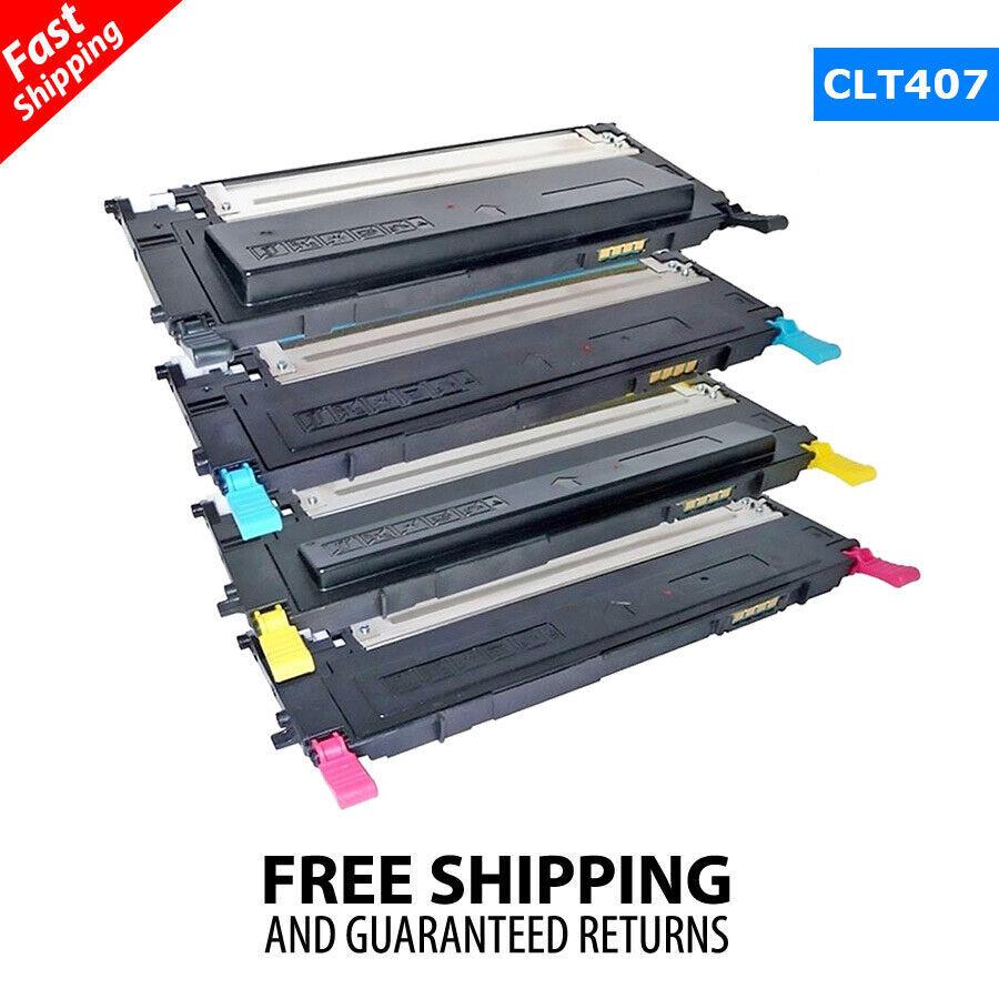 40g//Bottle,No Chips,1 Black,1 Cyan,1 Magenta,1 Yellow Refill Color Laser Toner Powder Kits for Samsung CLP315W CLP320 CLP325 CLX3175FN CLT409S CLT 409S K409S CLT-K409S Laser Printer Toner Powder