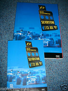 BRITISH-GRAND-PRIX-1997-PROGRAMME-MICHAEL-SCHUMACHER-JACQUES-VILLENEUVE-ALESI