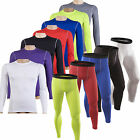 Men Sports Gym Compression Base Layers Long Sleeve T-Shirts Tight Leggings Pants