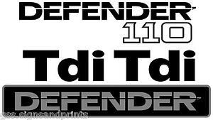 DEFENDER 110 TDI Adesivo Kit Completo Land Rover pannello anteriore e posteriore (Multi Colore  </span>