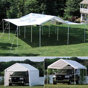 10x20x8 Shelterlogic 8 Leg Canopy With Enclosure