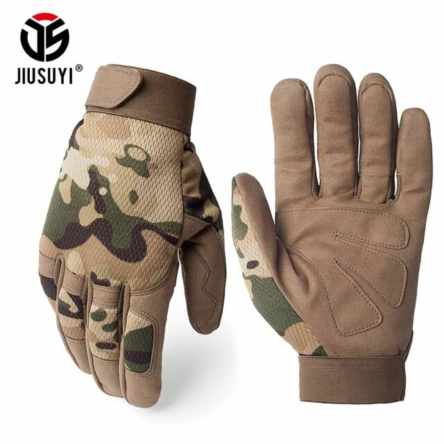 Outdoor Half//Full Finger Bicycle Cycling Gloves Camo Work Glove Fitness Riding