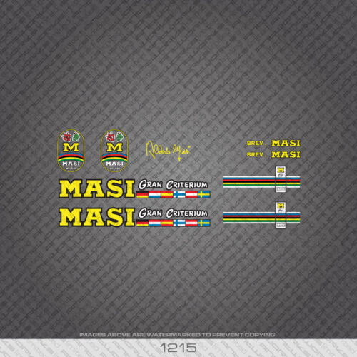 01215 Masi Gran Criterium Bicycle Stickers Decals Transfers