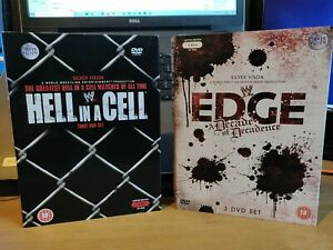 WWE-DVD-Bundle-Edge-Decade-Of-Decadence-amp-Hell-In-A-Cell-RARE-LIMITED-EDITION
