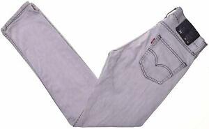 Levi-039-s-Damen-511-Jeans-w30-l32-grau-Baumwolle-Slim-c207