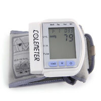 Digital Automatic Wrist Blood Pressure Pulse Monitor Meter Date Time Portable