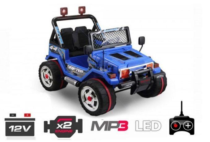 Elektro Kinderauto JEEP STYLE   2 x 30W   2 x 6V   MP3   RC  in 3 Farben