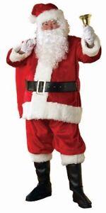 Rubie\'s Official Santa Suit Plush Father Christmas Costume Mens ...