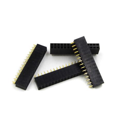 10Pcs 2.54mm 2x15 Pin 30 Pin Female Double Row Straight Pin Header Strip Neu