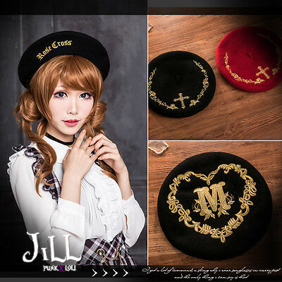 goth visual aristocrat gilded wreath Rosenkreuz saintess code beret hat J2Z6107