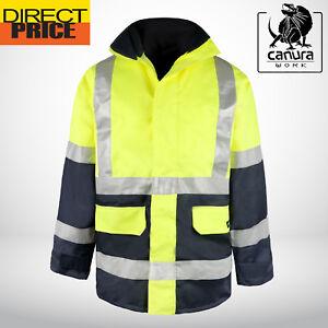78e4485e8d0 Hi Vis Rain Jacket Work Reflective Tape Safety Rain Wind Proof Wear ...