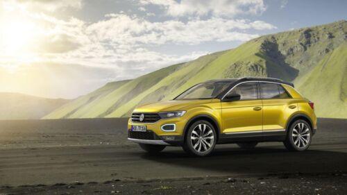 Für VW T-ROC maßgefertigte Sitzbezüge EXCLUSIVE Kunstleder /& Alkantra BLAU.