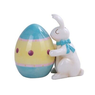 Personalized Ceramic Easter Egg Bunny Hugs